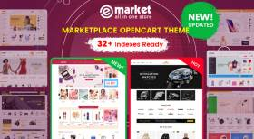 Design #32 Available in eMarket - Bestselling All-in-One OpenCart Theme
