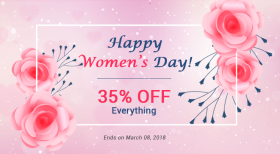 Happy International Women's Day: Save 35% OFF on Everything