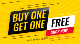 SPECIAL SALE: Buy One, Get One FREE. Limited Time!
