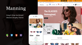 Manning - Multipurpose Sections Glasses Shopify Theme