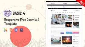 Sj Basic4 - Responsive Free Joomla 4 Template