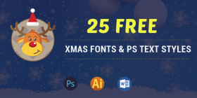 25+ Elegant Free Christmas Fonts, Photoshop Text Layer Styles