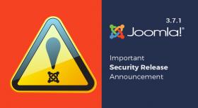 Joomla! 3.7.1 - Important Security Release Notification