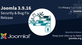 Joomla 3.9.16 Bug Fix & Security Release