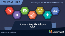 Joomla! 3.8.1 Bug Fixes Release