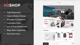 SJ H2shop - Clean & Modern Responsive VirtueMart Template