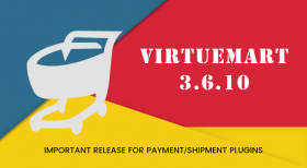 VirtueMart 3.6.10 - Important Release for Category Restriction of Payment/Shipment Plugins