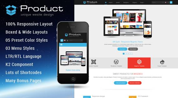 SJ Product - Responsive Joomla template with K2Store integrated